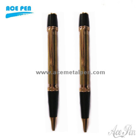 Sierra Pen kits in 24kt gold and black chrome finish
