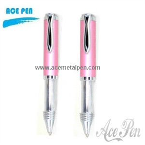 Retractable metal ball pen with fashion design