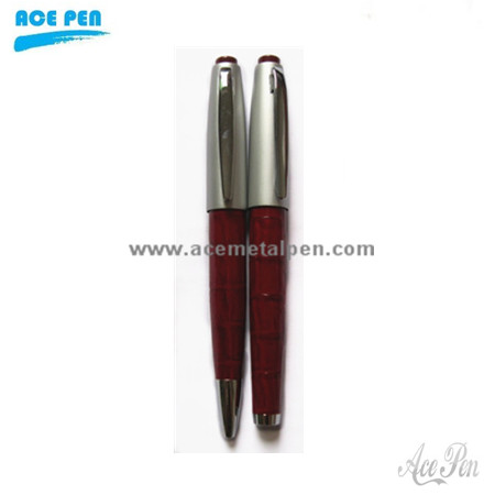 PU leather metal gift pen set