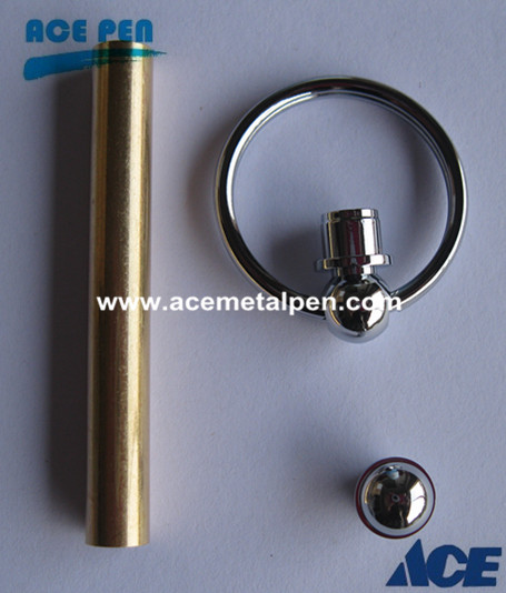 Keychain in Chrome/Gold 7mm tube size