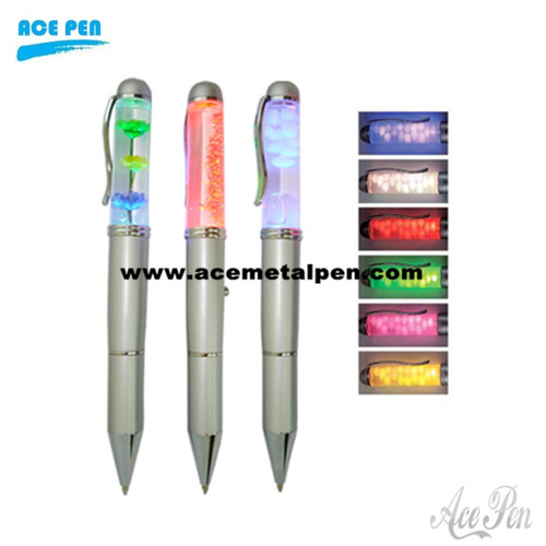 Liquid Floater Pen with colorful light