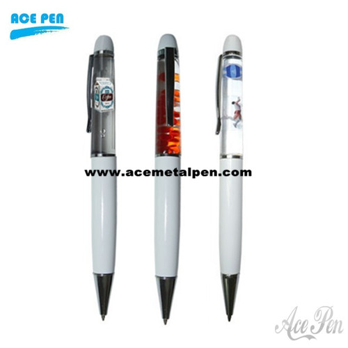 metal liquid pen with customized floater