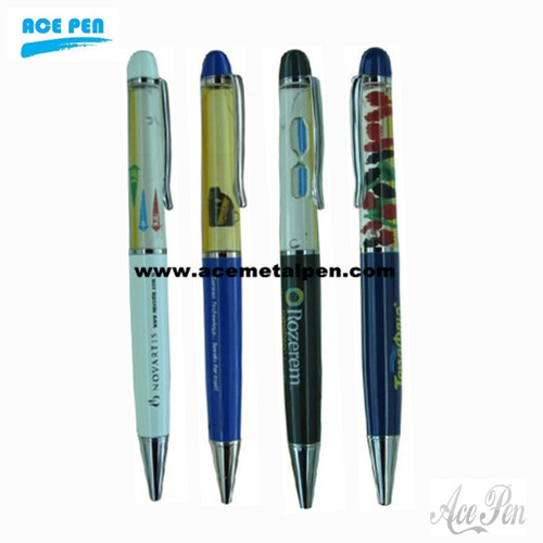 Promotional liquid floating pen