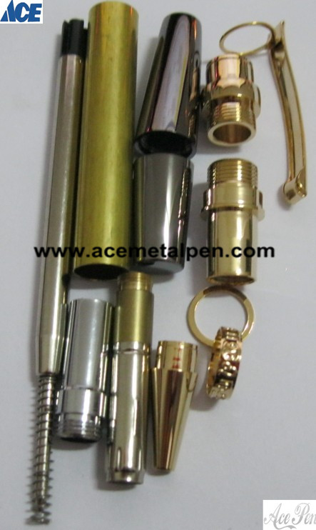 Flat Top Sierra Pen Kits with customized Center Band