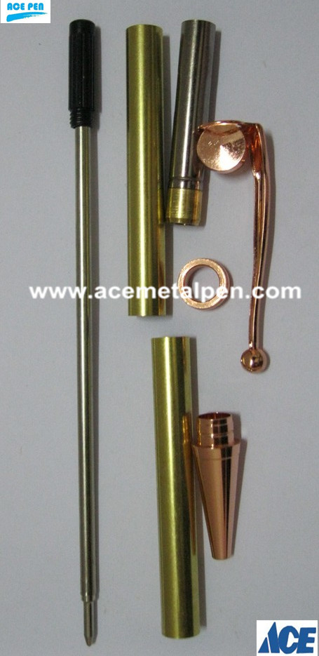 Fancy Pen Kits in Copper plating