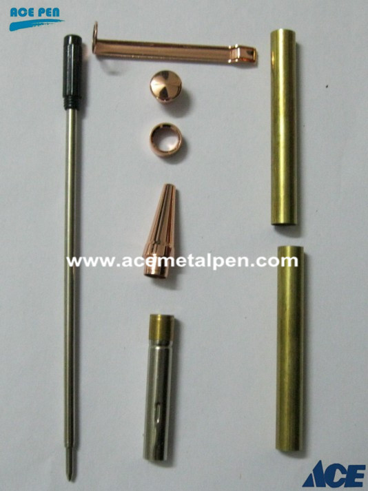 7mm Slimline Pen Kit in Copper plating