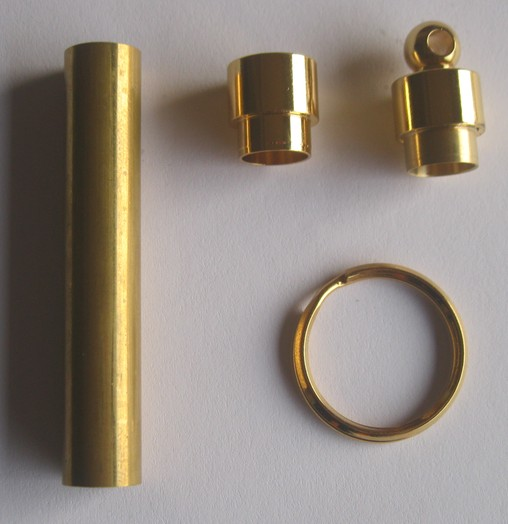 24kt Gold Secrect Compartment Keychain kits
