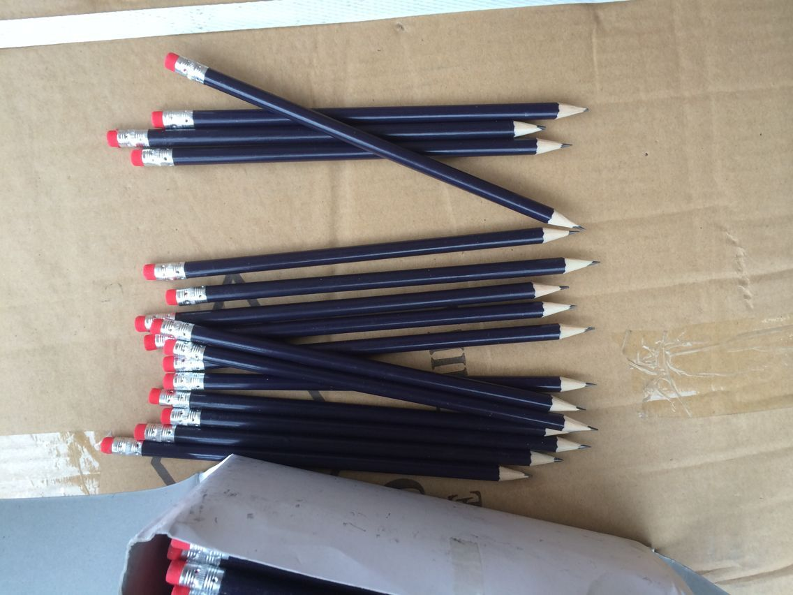 Black wood promotion pencils