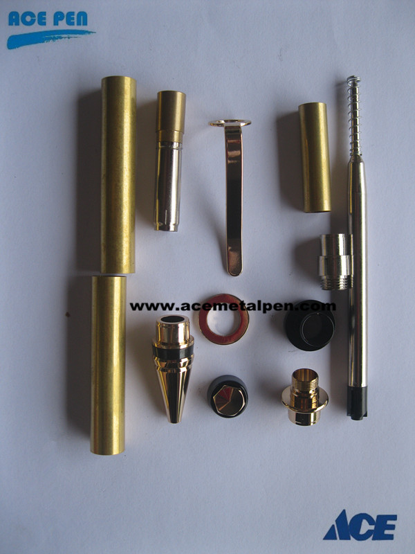 Cigar Pen Kits-Gold/Trivalent Chrome/Gunmetal/premium finishes like Titanium Gold, Black Titanium and Rhodium/Platinum