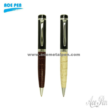 Executive leather ball pen