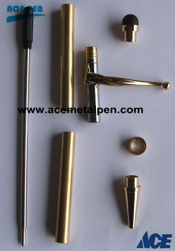 Gold Stylus Fancy Slimline Pen Kits with oval center ring